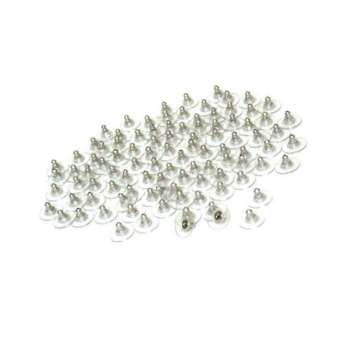 100pcs Outlet Plastic Earring Backs Replacements Comfortable Ear Nut