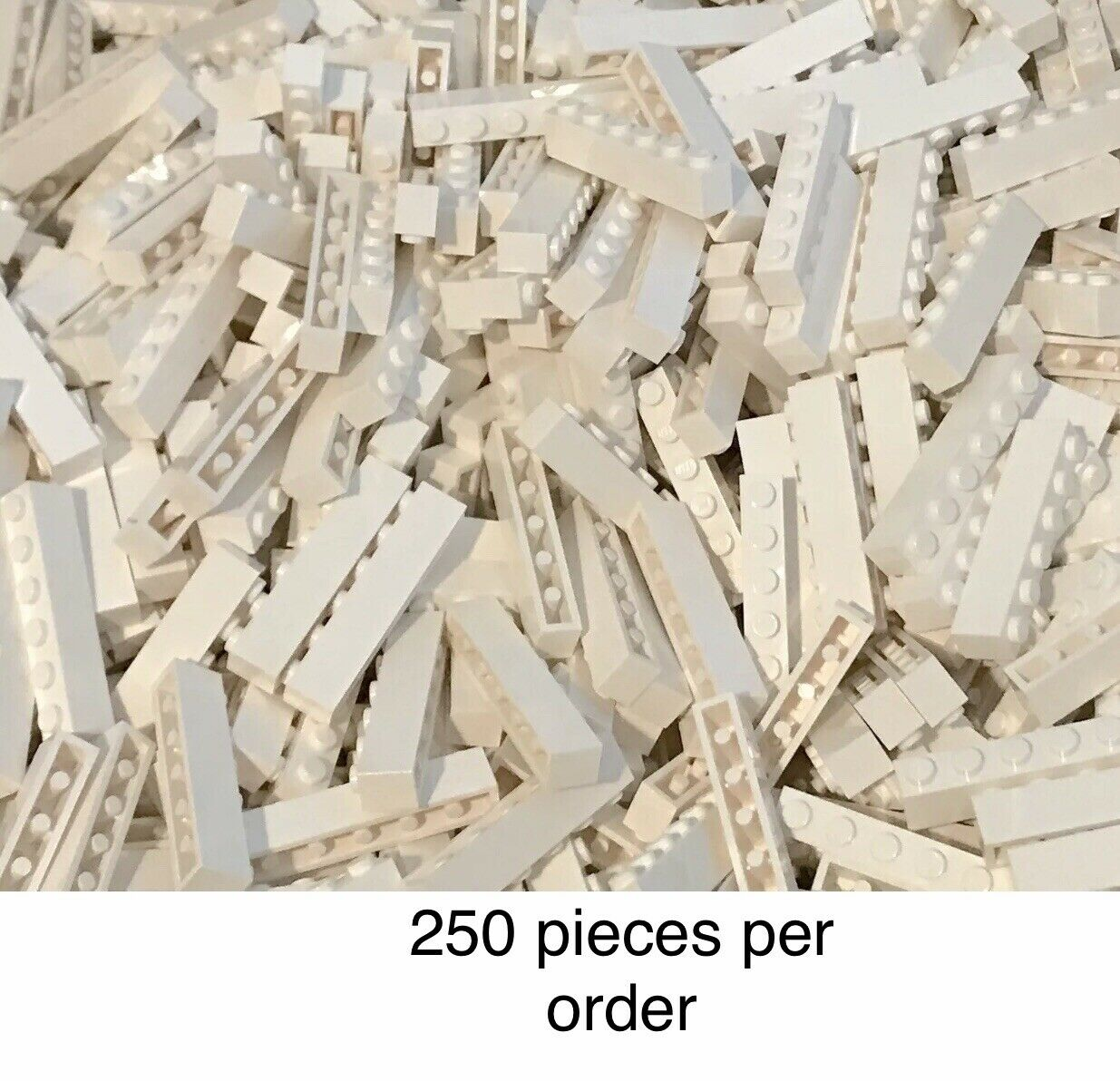 Lego WHITE 1x6 BRICK Lot of 8