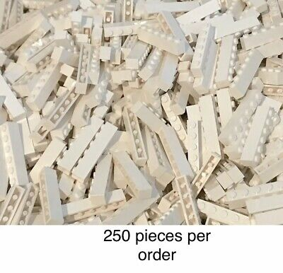 Bulk Building New Bricks Parts Lot Lego 250 Pieces White 1x6 Brick