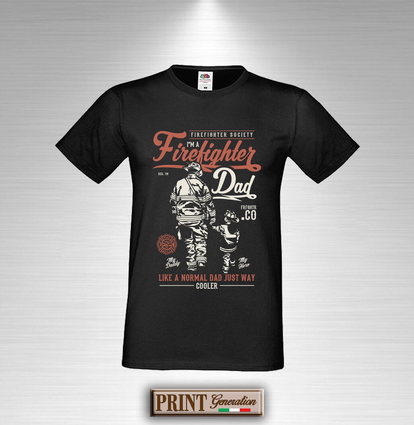 T-Shirt Papa Feuerwehrmann Feuer Kind Fest Event Notfall Rettung Elegant Schlank