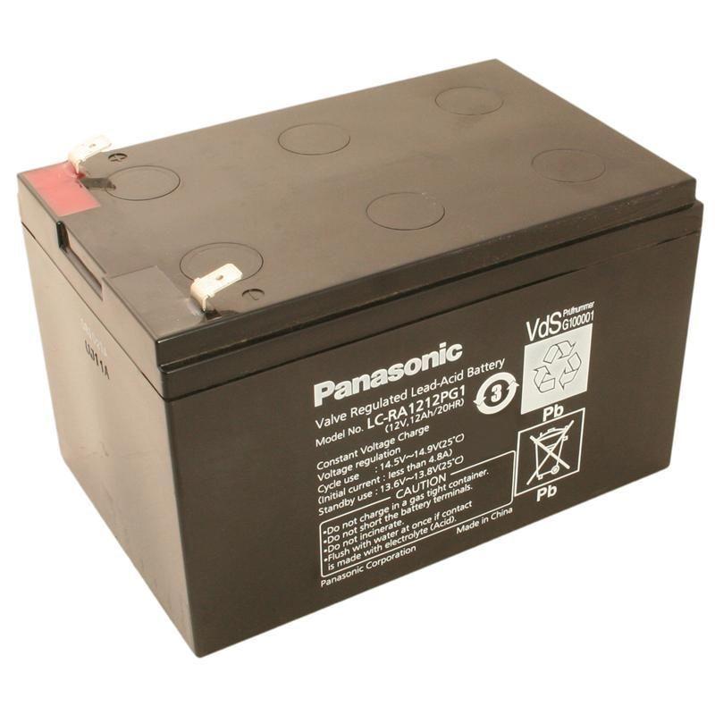 Panasonic LC-RA1212PG1   12Volt   12Ah mit VDS Bleibatterie  | Billiger als der Preis