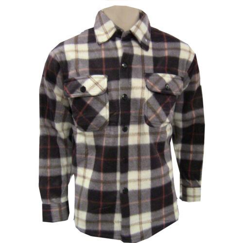 Uomo Pile Lumberjack A Quadri Inverno Camicia Di Lavoro Termale Giacca Casual