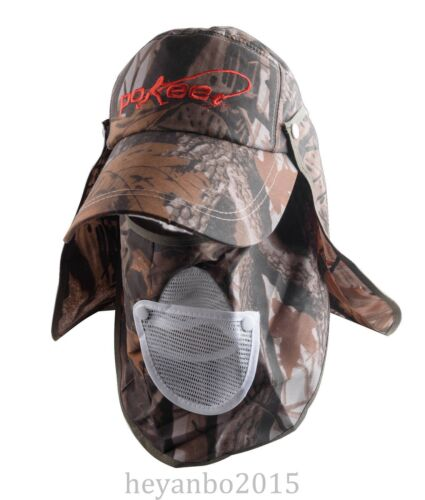 US OUTDOOR TACTICAL VISOR SUN HAT 360 UV PROTECTION FISHING HIKING CAP