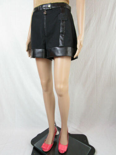 Sexy Sz Party Noir 90 Pantalons L 14 Shorts Vtg New Hot Womens Club At51 Années Versace q1Y7Yw