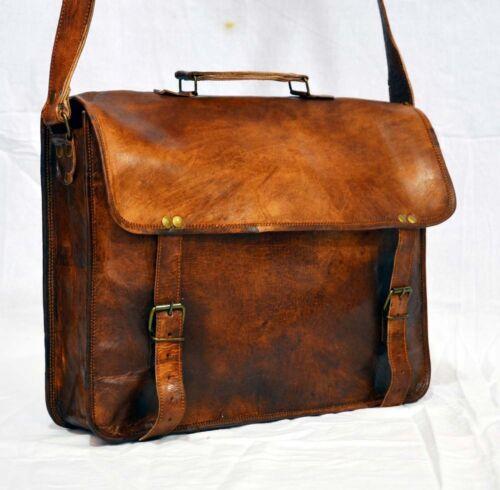 US Men Business Leather Handbag Briefcase Shoulder Messenger Laptop Satchel Bag