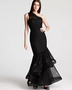 cherrie424: Monique Lhuillier One Shoulder Gown - Trumpet Skirt