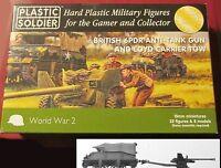 Plastic Soldier Company Ww2g15003 15mm Wwii British 6pdr Anti-tank Gun & Tow
