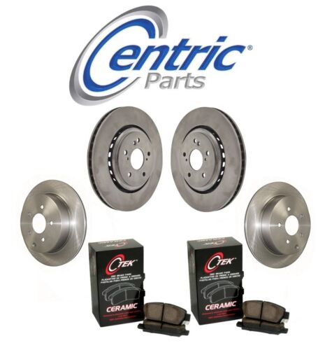 For Acura MDX 2014-2016 Front /& Rear Brake Discs /& Ceramic Pads KIT Centric