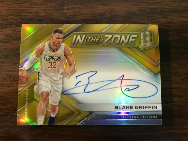2017-18 PANINI SPECTRA BLAKE GRIFFIN AUTO GOLD PRIZM REFRACTOR #3/10 IN THE ZONE
