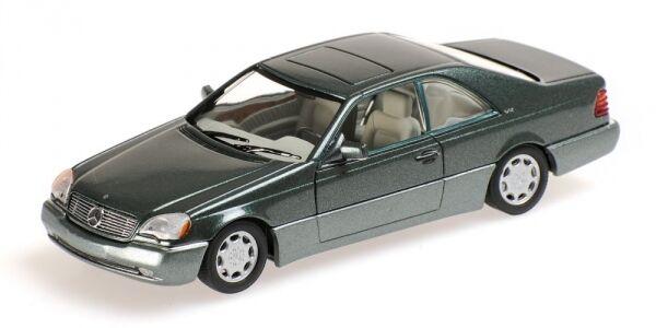 Mercedes benz 600 sec coupe 'c140 1992 vert  metallic 1 43 model minichamps  économiser jusqu'à 70%