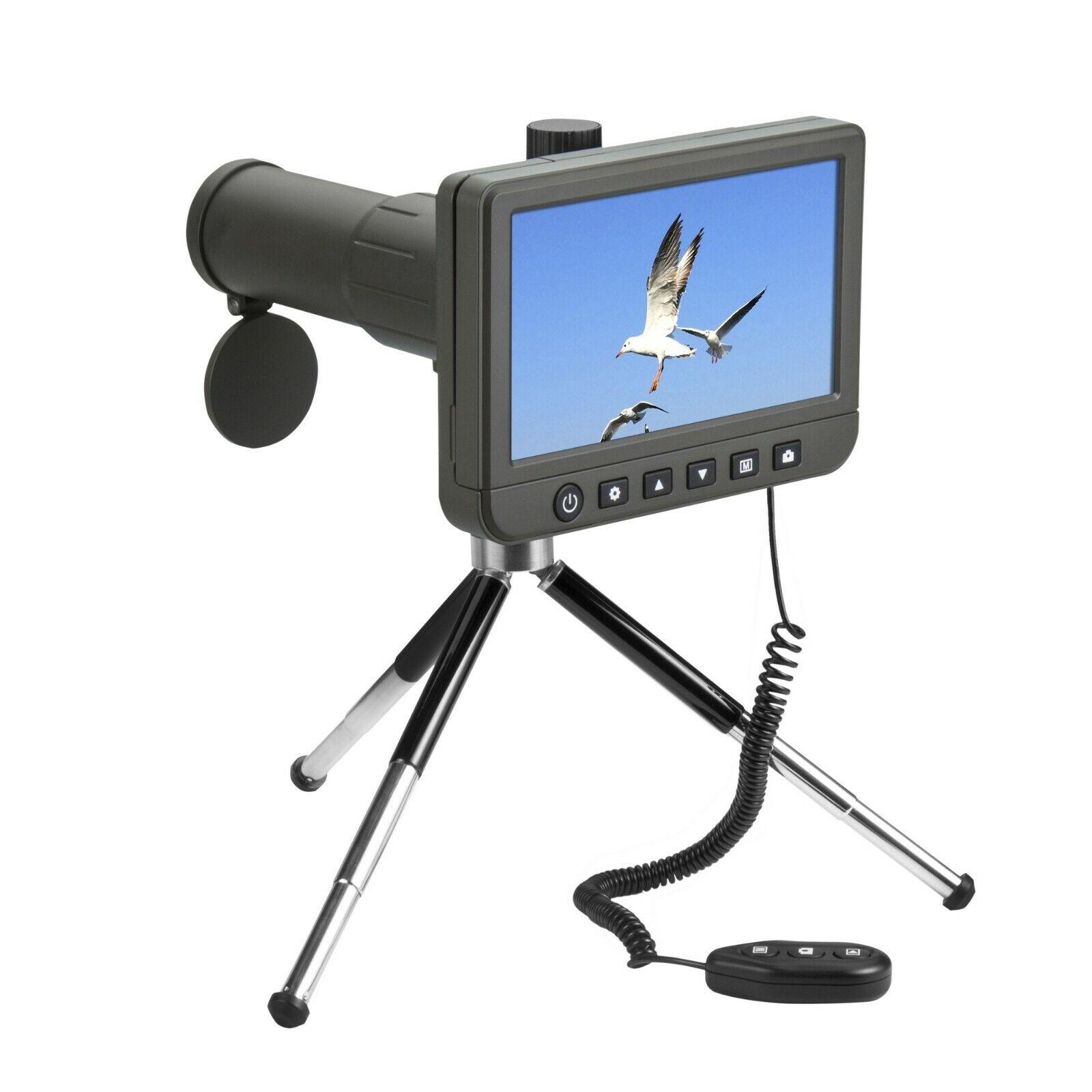 Vividia SS-550 LCD Telescopio Telescopio 50x con 5  LCD Monitor Video 1080P