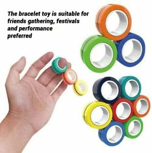 Magnetic Ring Toy Stress Relief Fidget Sensory Toys Set ...