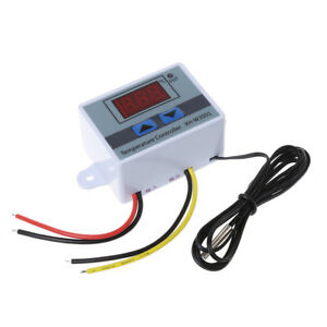 DC 12V Digital LED Temperature Controller 10A Thermostat Control Switch Probe S