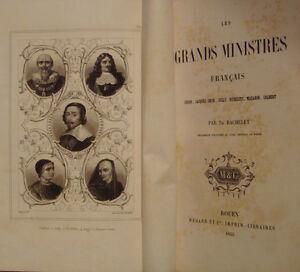 BACHELET-Th-LES-GRANDS-MINISTRES-FRANCAIS-1855