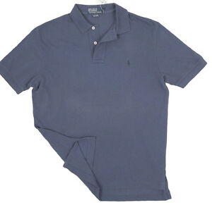 Details Weathered Lauren NewPolo ShirtM About Mesh Front Ralph Blue On Fading srthCQd