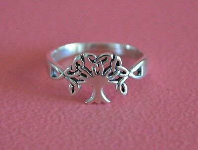 925 Sterling Silver Celtic Tree of Life Ring Band - Celtic Tree of Life Ring