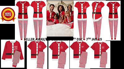 Genossenschaft Santa Kids Boys Christmas Family Pyjamas Pjs Set Sister Brother Mummy Daddy Xmas Senility VerzöGern
