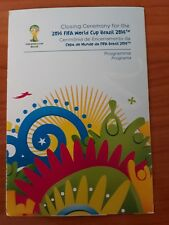 Programm World Cup Final 2014 Germany  - Argentina  , Closing Ceremony