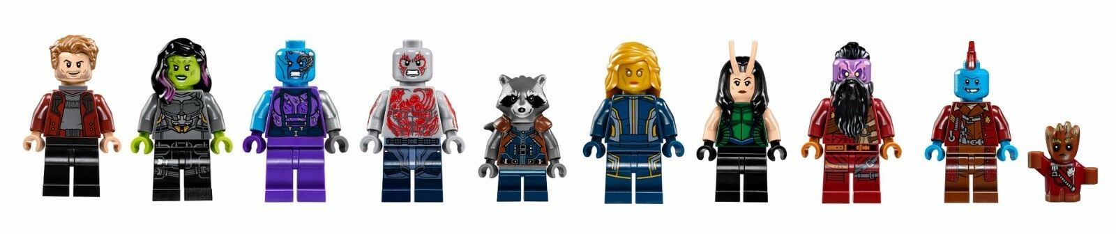 LEGO 76079, 76080, 76081 - Super Heroes Guardians of the Galaxy Vol.2 - Minifigs