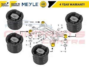 Para-BMW-X5-E53-2000-2007-REAR-SUBFRAME-delanteras-y-traseras-Arbustos-Conjunto-MEYLE-Heavy-Duty