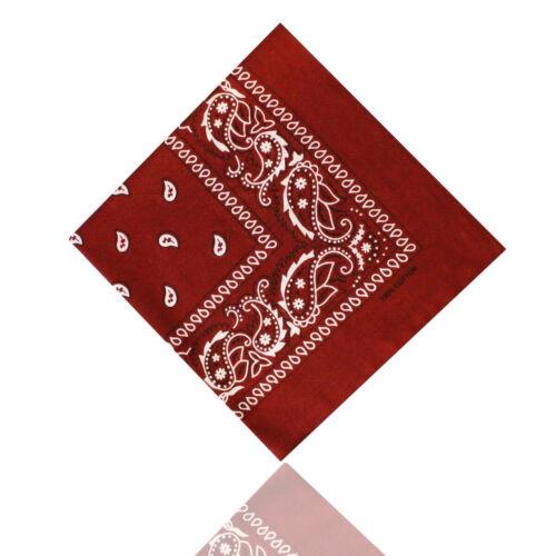 Bandana foulard foulard 100/% coton foulard nickituch Paisley Bordeaux Bordeaux