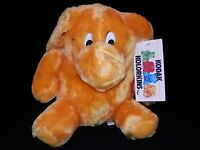 1989 Kodak Kolorkins Toy Snap Yellow Plush 9 Stuffed Animal Tush Hang Tags Cute