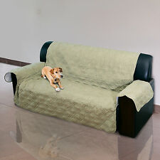 Sofá de 3 asientos Acolchado Funda Protector Pet Mat Pad Sofá Tirar Slipcover SUREFIT