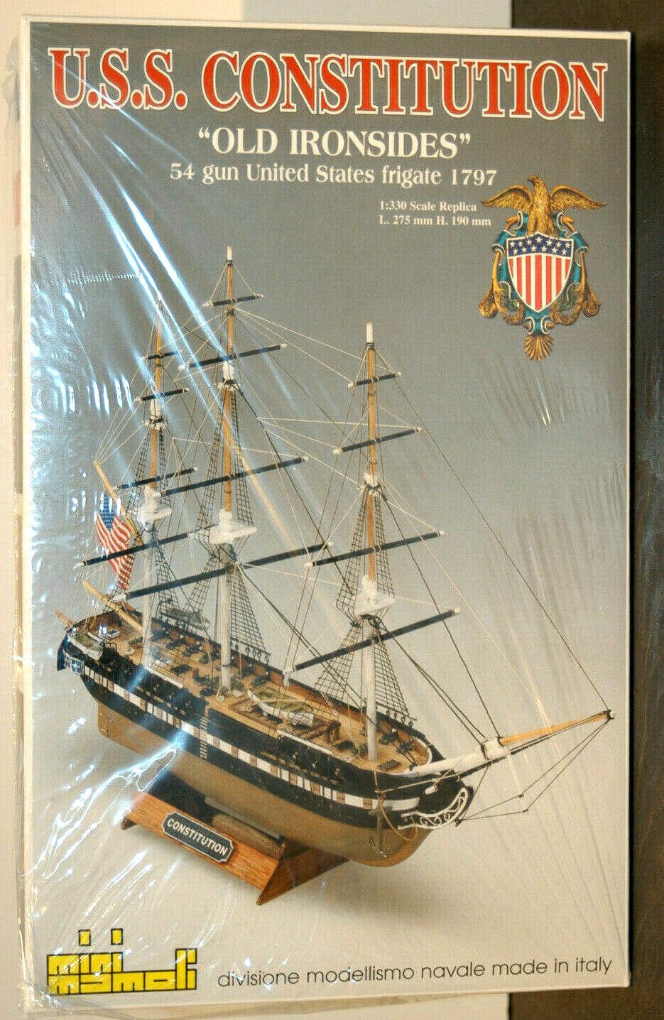 NOS Vintage Mini Mamoli U.S.S. Constitution  Old Old Old Ironsides  Ship Model MM 64 e84