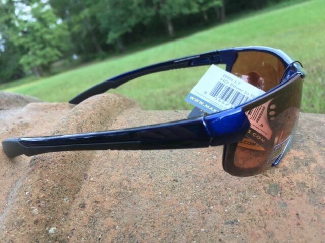 55d9261ae2 Maxx HD Sunglasses Blitz Silver Blue Golf Fishing Brown Lens LT A1 for sale  online