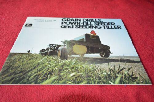 John Deere Grain Drills Powr-Till Seeder For 1979 Dealer/'s Brochure YABE7