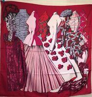 DIOR Christian Tuch carre foulard scarf shawl Seide silk soie ROBES KLEIDER