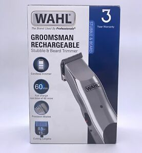 WAHL Groomsman Rechargeable Trimmer Grooming Kit - OPENED DAMAGED BOX
