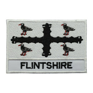 Flintshire-County-Flag-Patch-Iron-On-Patch-Sew-On-Embroidered-Patch