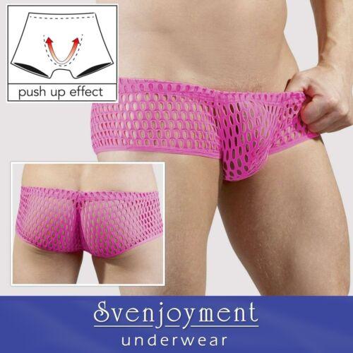 Svenj Basic Retro Style Weiche Lasercut Netz Hipster Pants Pink in S bis XL