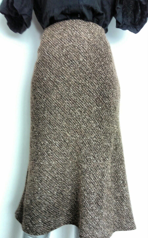 Designer RONIT ZILKHA skirt size 16 wool blend below knee --MINT--