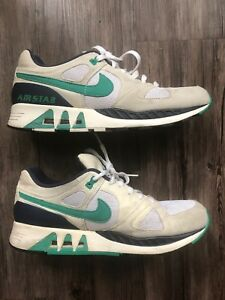 2af6b9084e5a6 Details about Men's Nike Air Stab 312451-100 Cream Blue White Sneakers  Shoes Size 11 Air Max