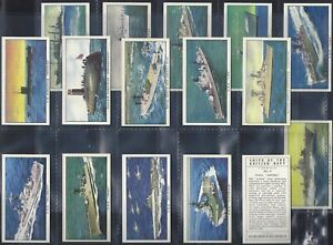 KELLOGGS-FULL SET- SHIPS OF THE BRITISH NAVY (16 CARDS) - EXC