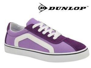 Ladies Purple Canvas Trainers Womens