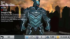 Injustice Gods Among Us Android And Ios Metal The Merciless Ebay