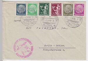 (z10) Zeppelinpost Olympia Voyage 1936-afficher Le Titre D'origine