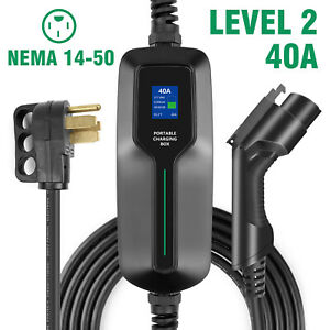 60A, 188 G with Flannel bag K.H.O.N.S EV Adapter EV Charging Adapter for Type 1 EV Charging SAE J1772 connect the Tesla Standard Vehicles