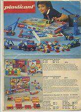 Reklame Prospekt plasticant Spielzeug Kinder Hamburg Spielwaren Werbung