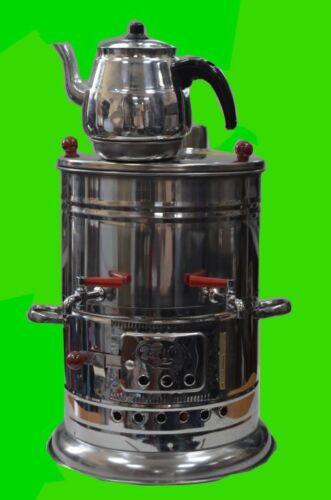 Turkish Tea Maker Teapot Samovar Semaver Kettle with single //double taps//camping