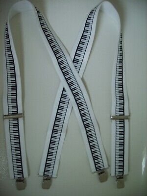 """Mens Suspenders X Style 1 1//2/""""-2/"""" US#2FLAG Loop Snaps.USA Made Clips"""