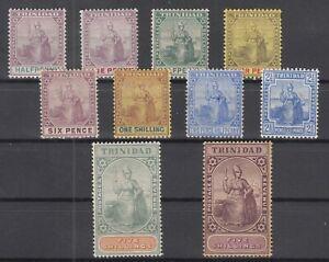 C2954-BRITISH-TRINIDAD-1896-1909-MINT-CLASSIC-LOT-CV-280