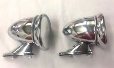 Classic Mini Wing Mirror Chrome Bullet Racing PAIR car mg triumph austin morris