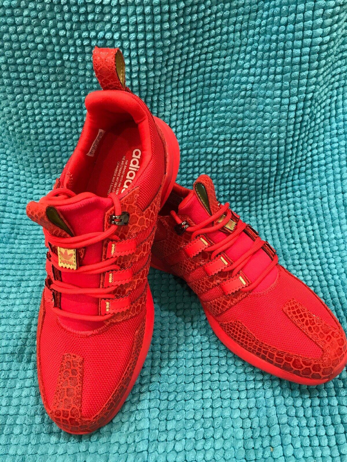 Adidas Uomo originali sl loop runner taglia 9 rosso serpente stampa