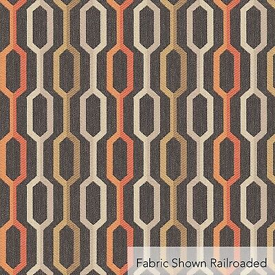 Orange /& White Drapery Upholstery Fabric Indoor Outdoor Geometric