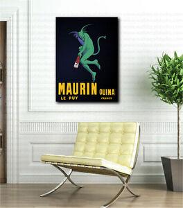 Maurin-Quina-par-Leonetto-Cappiello-Vintage-Toile-Art-Poster-Print