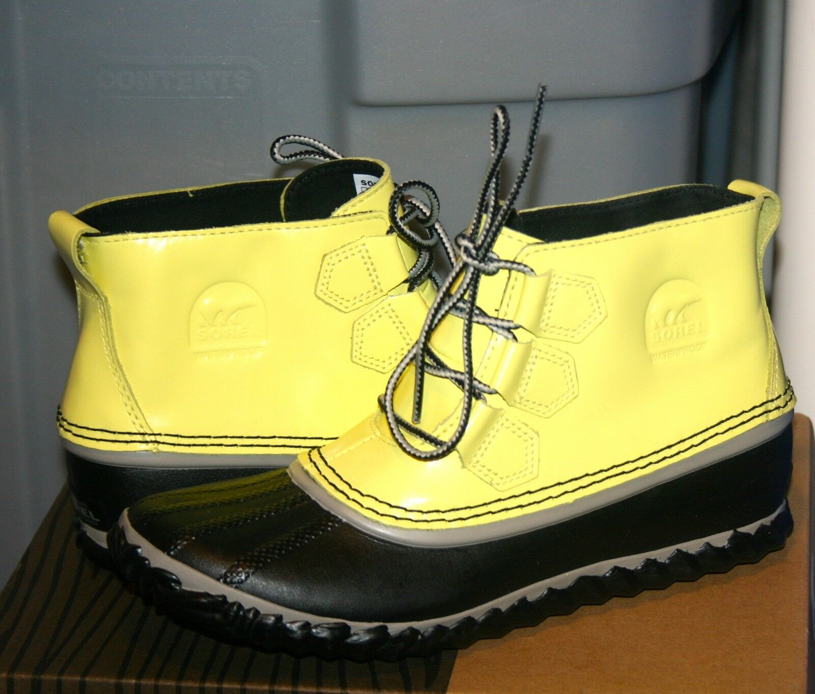 SOREL OUT N ABOUT US RAIN US ABOUT 7 EU 38 Woman's Waterproof Zest Yellow 2afdf8